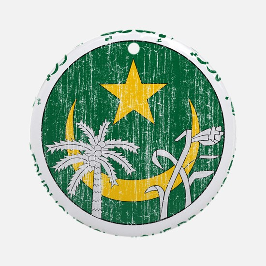 Mauritania Coat Of Arms Ornament (Round)