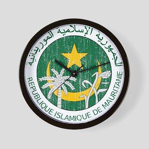 Mauritania Coat Of Arms Wall Clock