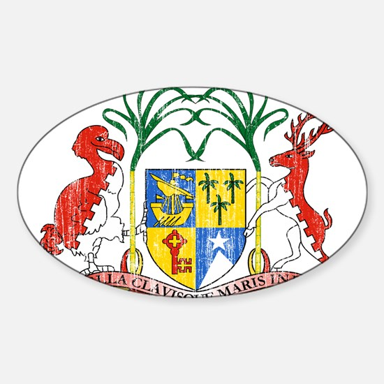Mauritius Coat Of Arms Sticker (Oval)