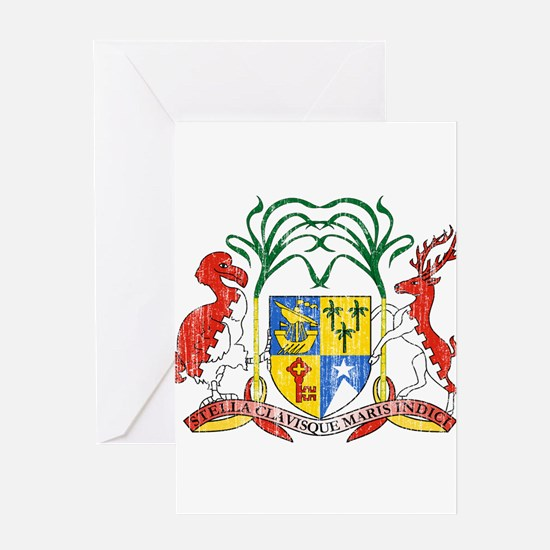 Mauritius Coat Of Arms Greeting Card