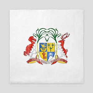 Mauritius Coat Of Arms Queen Duvet