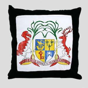 Mauritius Coat Of Arms Throw Pillow