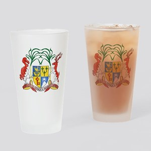 Mauritius Coat Of Arms Drinking Glass