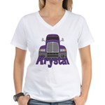 Trucker Krystal Women's V-Neck T-Shirt