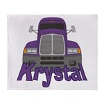Trucker Krystal Throw Blanket