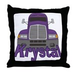 Trucker Krystal Throw Pillow