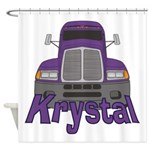 Trucker Krystal Shower Curtain