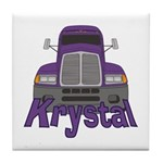 Trucker Krystal Tile Coaster
