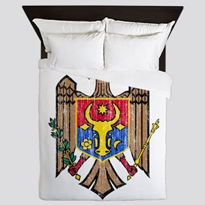 Moldova Coat Of Arms Queen Duvet
