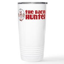 The Bacon Hunter Logo Stainless Steel Travel Mug