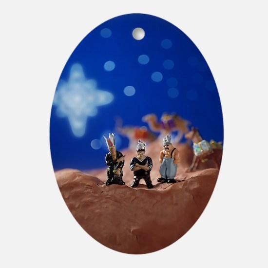 Los Reyes Magos (3 Kings) Oval Ornament