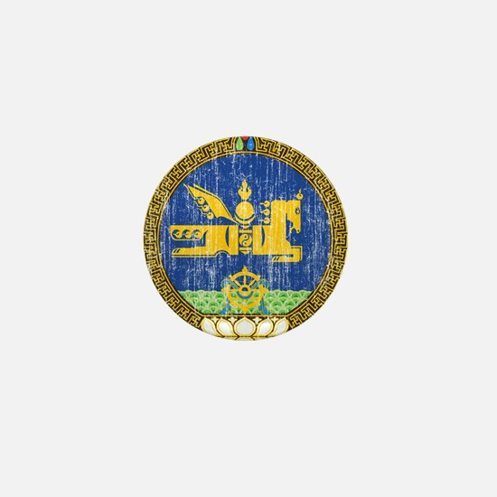 Mongolia Coat Of Arms Mini Button