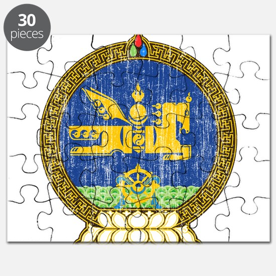 Mongolia Coat Of Arms Puzzle