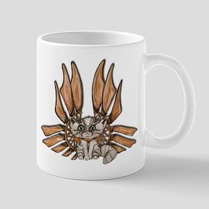 steampunk grey kitten Leather wings Mug