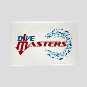 Dive Masters Logo Rectangle Magnet