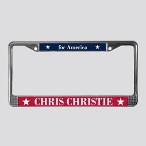 Chris Christie for America License Plate Frame