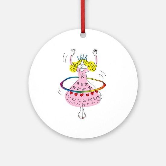hula hoop princess Ornament (Round)