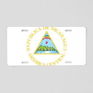 Nicaragua Coat Of Arms Aluminum License Plate