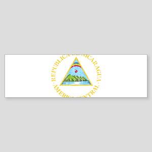 Nicaragua Coat Of Arms Sticker (Bumper)