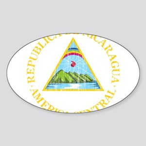 Nicaragua Coat Of Arms Sticker (Oval)