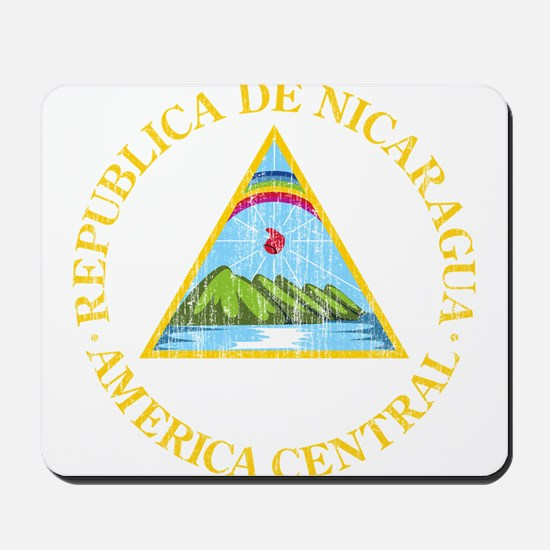 Nicaragua Coat Of Arms Mousepad