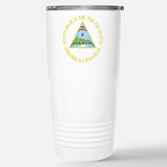 Nicaragua Coat Of Arms Stainless Steel Travel Mug