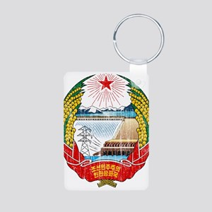 North Korea Coat Of Arms Aluminum Photo Keychain