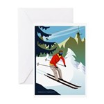 Gone Skiing Greeting Card