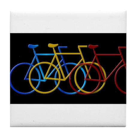 Bicyclesin3ColorsBig.jpg Tile Coaster