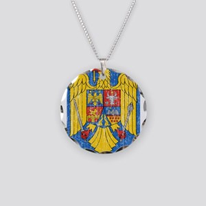 Romania Coat Of Arms Necklace Circle Charm