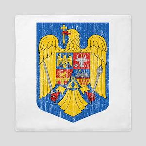 Romania Coat Of Arms Queen Duvet