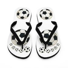 Soccer Ball Flip Flops