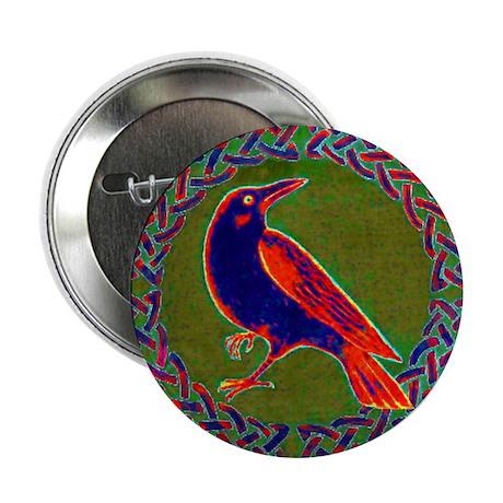 Celtic Crow Multi Color Button