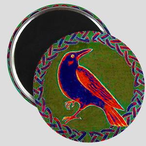 Celtic Crow Multi Color Magnet