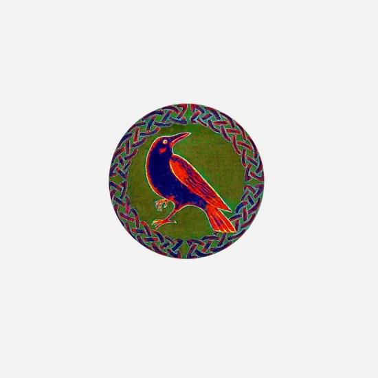 Celtic Crow Multi Color Mini Button