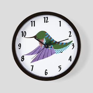 Ruby Throated Hummingbird Wall Clock