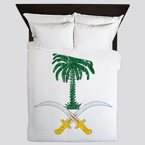Saudi Arabia Coat Of Arms Queen Duvet