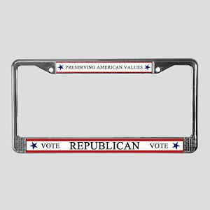 Vote Republican American License Plate Frame