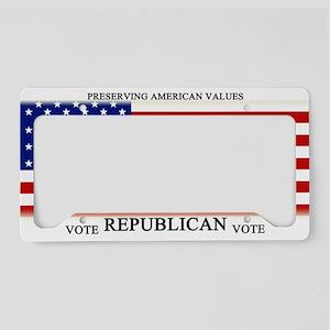 Vote Republican American License Plate Holder