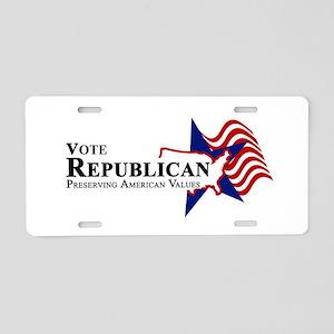 Vote Republican American Aluminum License Plate