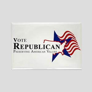 Vote Republican American Rectangle Magnet