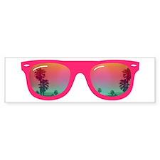 sunglasses summer Sticker (Bumper)