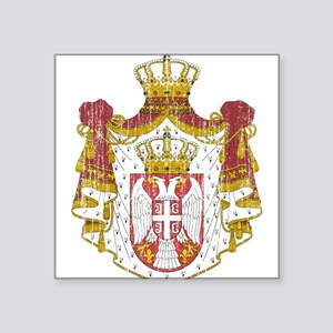 """Serbia Coat Of Arms Square Sticker 3"""" x 3"""""""