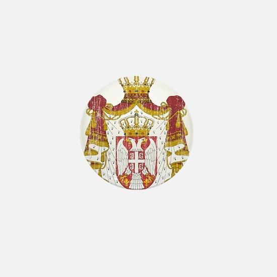 Serbia Coat Of Arms Mini Button