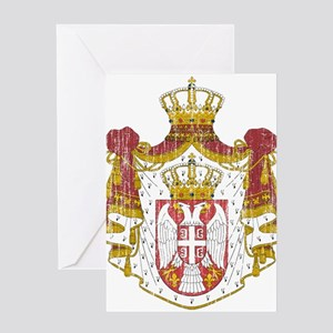 Serbian greeting cards cafepress serbia coat of arms greeting card m4hsunfo
