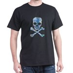 Distressed Skull & Bones Black T-Shirt