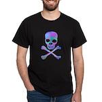 Colorful Skull & Crossbones Black T-Shirt