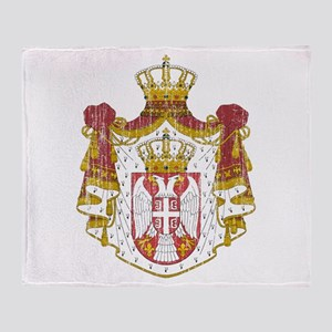 Serbia Coat Of Arms Throw Blanket