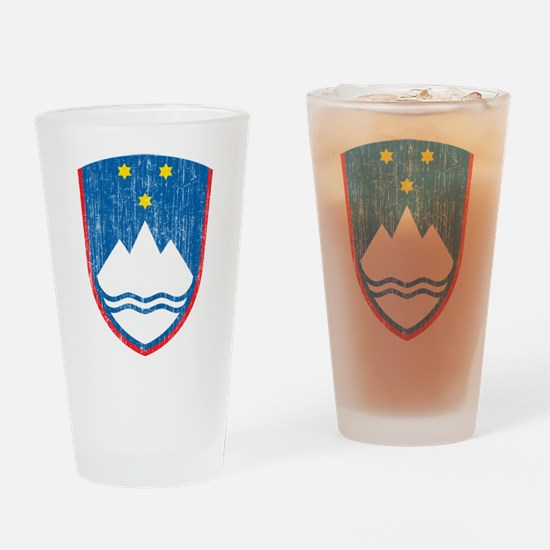Slovenia Coat Of Arms Drinking Glass