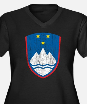 Slovenia Coat Of Arms Women's Plus Size V-Neck Dar